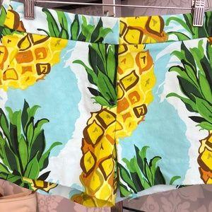 TRINA TURK Teal Blue Pineapple Shorts Style#164506